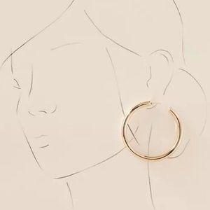 NEW~ Anthropologie Bliss Hoop Earrings / Gold